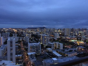 Metro Honolulu by night