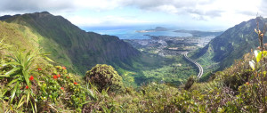 Overlooking Kaneohe Bay & H3